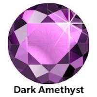 Donker Amethyst Rhinestone
